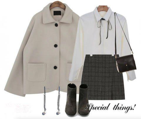 米色短外套