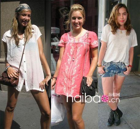 街拍纽约美女搭配 34℃曼哈顿的夏天