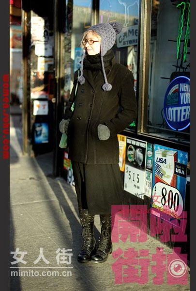 黑色大衣酷帅迷人 低调也能潮